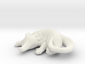 Sleepy opossum in White Natural Versatile Plastic