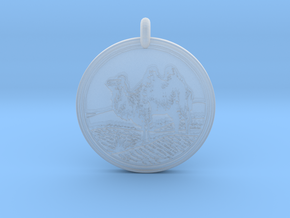 Bactrian Camel  Animal Totem pendant in Smooth Fine Detail Plastic