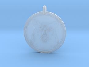 Black Bear Portait Animal Totem Pendant in Smooth Fine Detail Plastic