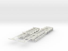 000436 Australia super B Train Container in White Natural Versatile Plastic: 1:87 - HO