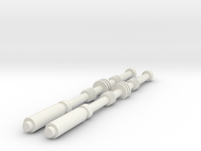 ESB RotJ Vader Chest Rods in White Natural Versatile Plastic