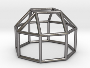 0770 J19 Elongated Square Cupola (a=1cm) #1 in Polished Nickel Steel