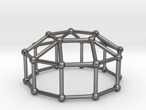 0774 J20 Elongated Pentagonal Cupola (a=1cm) #2 in Polished Nickel Steel