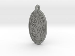 Sacred Tree/Tree of Life - Oval Pendant in Gray PA12