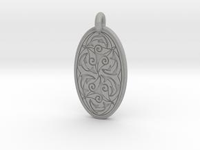 Nehalennia - Oval Pendant in Aluminum