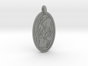 Hare - Oval Pendant in Gray PA12