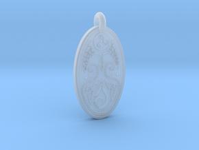 Cerridwen - Oval Pendant in Smooth Fine Detail Plastic