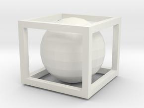 IMPOSSIBLE BOX in White Natural Versatile Plastic: Medium