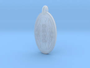 Cat - Oval Pendant in Smooth Fine Detail Plastic