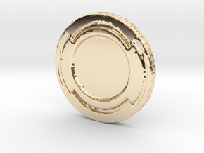 Star wars Sabacc Solo Simple Coin chip in 14K Yellow Gold