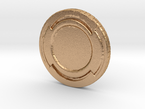 Star wars Sabacc Solo Simple Coin chip in Natural Bronze