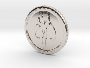 Star wars Sabacc Solo Mandalorian Bounty coin cred in Platinum