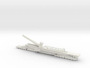 Sk l/45 38cm max e 1/160 railway artillery ww1  in White Natural Versatile Plastic