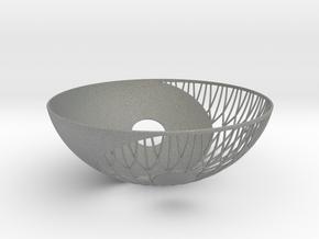 Yin Yang Bowl in Gray Professional Plastic