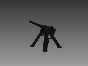 3 Pounder Saluting Gun 30° 1/96 in Smooth Fine Detail Plastic