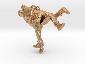 Swiss wrestling - 50mm high in Natural Bronze