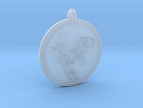 Abert's Squirrel Animal Totem Pendant in Smooth Fine Detail Plastic