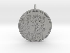 Buffalo Animal Totem Pendant in Aluminum