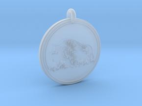 Buffalo Animal Totem Pendant 2 in Smooth Fine Detail Plastic