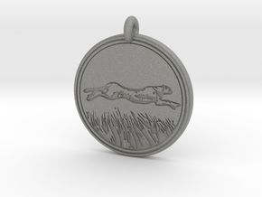 Cheetah Animal Totem Pendant in Gray PA12