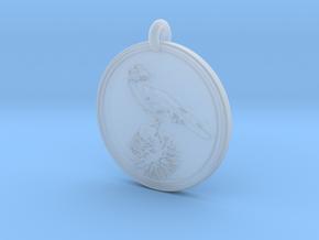 Clark's Nutcracker Animal Totem Pendant in Smooth Fine Detail Plastic