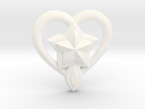 Lulu Star Guardian Pin in White Processed Versatile Plastic