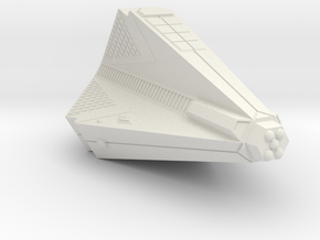 3788 Scale Tholian Heavy War Destroyer (HDW) SRZ in White Natural Versatile Plastic
