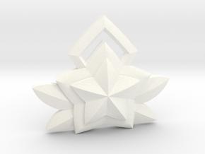 Janna Star Guardian Pin in White Processed Versatile Plastic