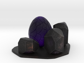 Purple dragon egg scene 1 in Natural Full Color Sandstone