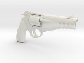 1/3rd Scale Rushuna Tendo Revolver in White Natural Versatile Plastic