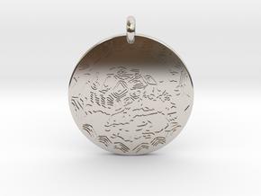 Desert Tortoise Animal Totem Pendant in Rhodium Plated Brass