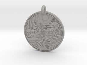 Dragonfly Animal Totem Pendant in Aluminum