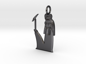 Khepri / Khepera amulet in Polished and Bronzed Black Steel
