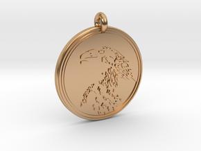 Golden Eagle Animal Totem Pendant in Polished Bronze