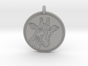 Giraffe Animal Totem Pendant 2 in Aluminum