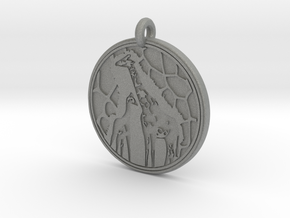 Giraffe Animal Totem Pendant in Gray PA12