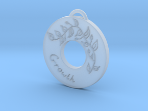 Just Grow Pendant in Smooth Fine Detail Plastic