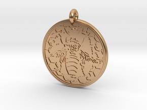 Honey Bee Animal Totem Pendant in Polished Bronze