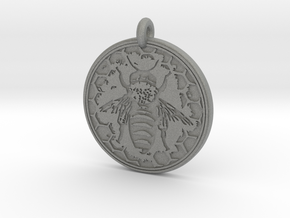 Honey Bee Animal Totem Pendant in Gray Professional Plastic