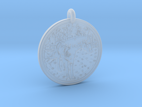 Horse Animal Totem Pendant in Smooth Fine Detail Plastic