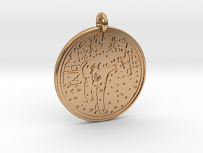 Horse Animal Totem Pendant in Polished Bronze