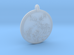Jackalope Animal Totem Pendant in Smooth Fine Detail Plastic
