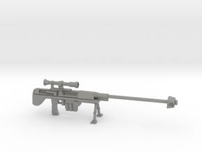 Miniature Sniper Rifle  in Gray Professional Plastic