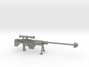 Miniature Sniper Rifle  in Gray PA12