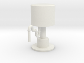 OO/HO Water Tower 1 in White Natural Versatile Plastic