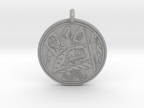 Lady bug Animal Totem Pendant in Aluminum