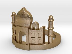 Taj Mahal Ring in Polished Gold Steel: 5.5 / 50.25