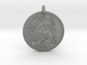 Lion Animal Totem Pendant in Gray PA12
