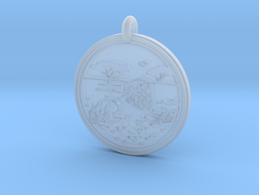 Lion Animal Totem Pendant in Smooth Fine Detail Plastic
