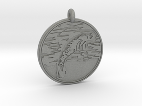 Manatee Animal Totem Pendant in Gray PA12